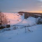 Tresham Valley in the Snow